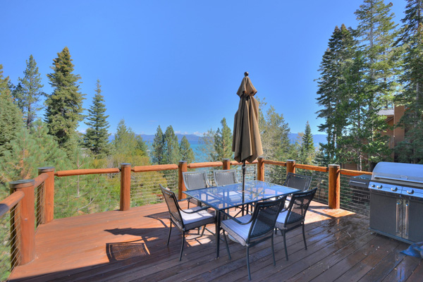 Tahoe Vacation Rentals - Lake Front House - Back Deck
