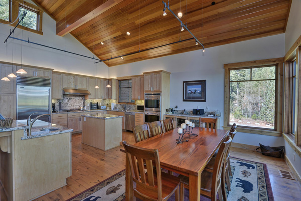 Tahoe Vacation Rentals - Lake Front House - Dining room and Kitchen