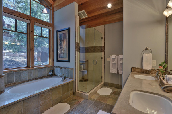 Tahoe Vacation Rentals - Lake Front House - Master Bath