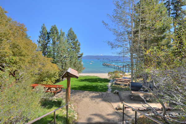 Tahoe Vacation Rentals - Lake Front House - View of the lake and pier
